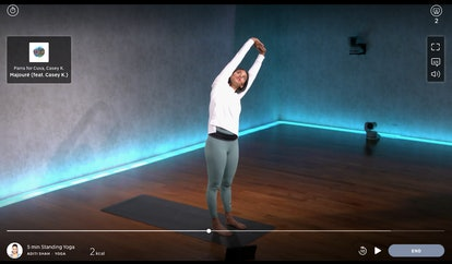 A 5-minute standing yoga session for a quick body-opening.