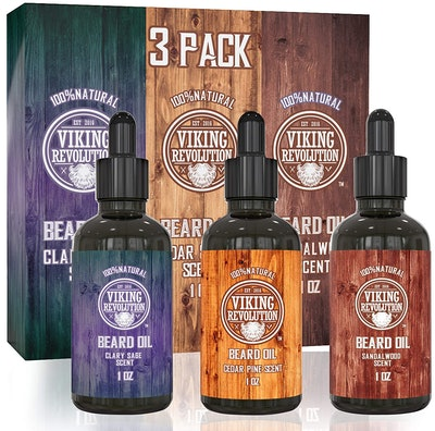 Viking Revolution Beard Oil Conditioner 3-Pack