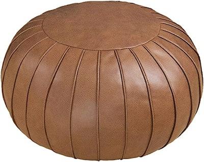 Thgonwid Handmade Suede Pouf Ottoman