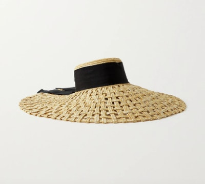 Eugenia Kim Mirabel grosgrain-trimmed woven straw hat