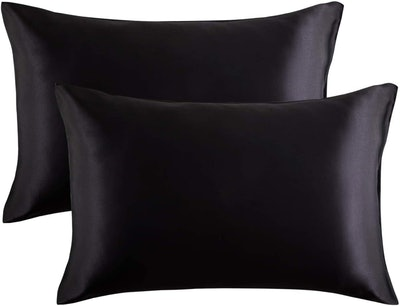Bedsure Satin Pillowcases for Hair and Skin (Set of 2)