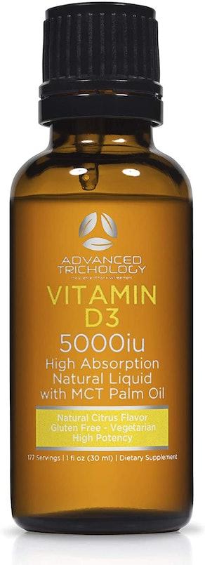 Advanced Trichology Vegetarian Liquid Vitamin D3, 1 Fl. Oz.