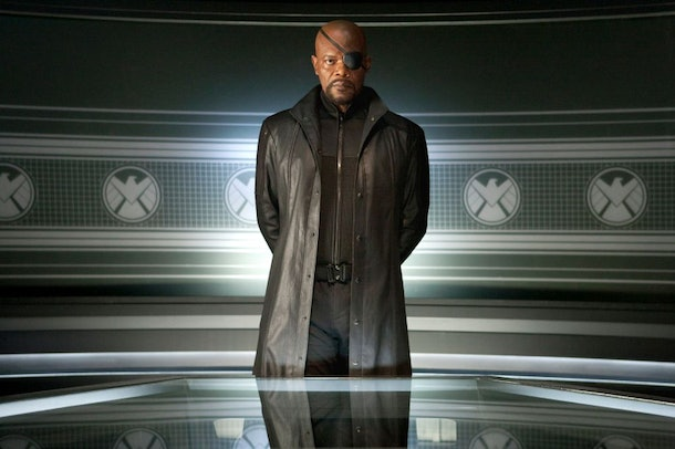 Samuel L. Jackson as Nick Fury in 2012's The Avengers