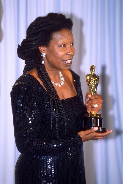 Best Oscars beauty looks: Whoopi Goldberg.