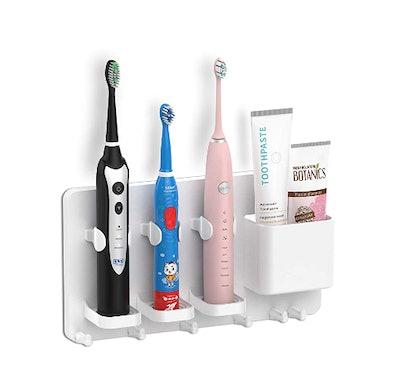 simpletome Adhesive Electric Toothbrush Organizer