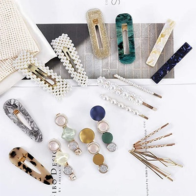 Cehomi Fashion Korean Style Pearl Hair Clips (20-Pcs)