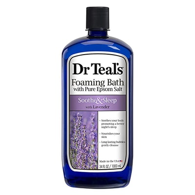 Dr Teal's Foaming Bath With Pure Epsom Salt- Soothe & Sleep With Lavender (34-Oz)