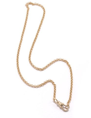 Small Belcher Chain With Dog Clip Clasp