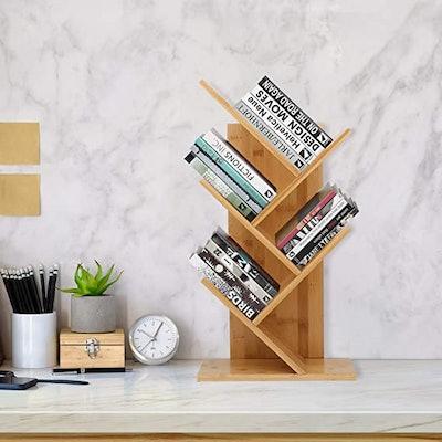 JIIKOOAI Tree Bookshelf Book Rack