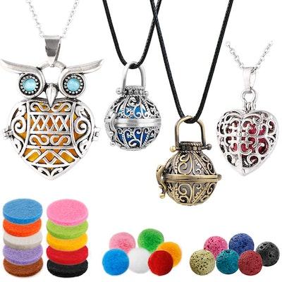 ttstar Essential Oil Diffuser Necklaces (Set of 4)