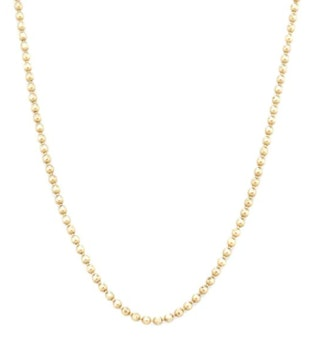 Faceted Bead Chain Necklace