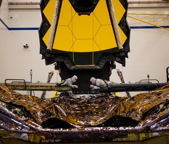 The James Webb Space Telescope's Deployable Tower Assembly that connects the upper and lower sections of the spacecraft
