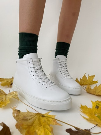 The Proper Sneaker High Top White 002
