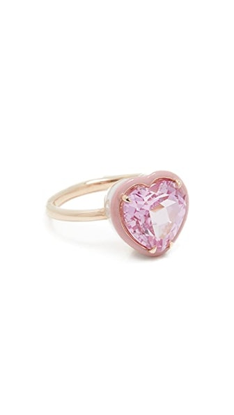 Heart Shaped Cocktail Ring