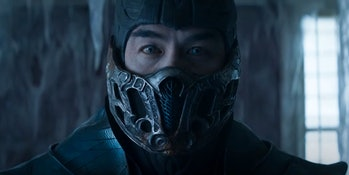 Sub-Zero in the 2021 movie Mortal Kombat.