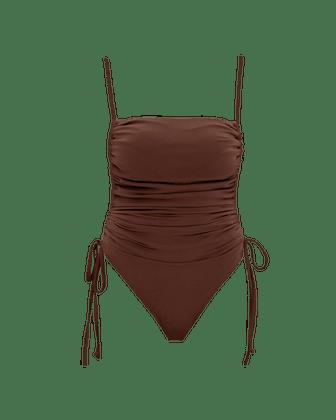 Adan Cocoa One-Piece Swimsuit