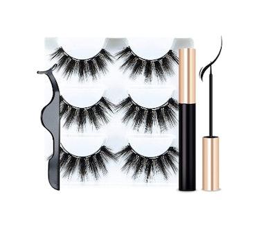 Sikkis Magnetic Eyelashes with Eyeliner (3-Pack)