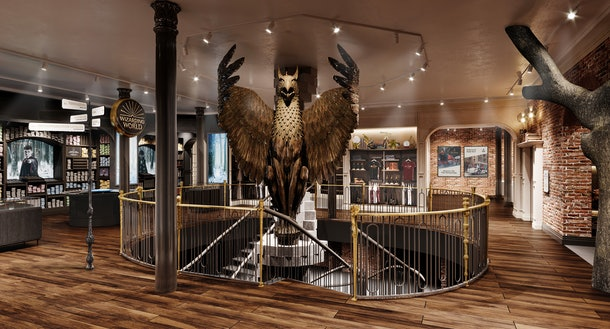 In the Harry Potter New York flagship store, there is a Griffin like in Dumbledore's office.