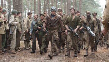 Steve Rogers and the Howling Commandos in Captain America: The First Avengers