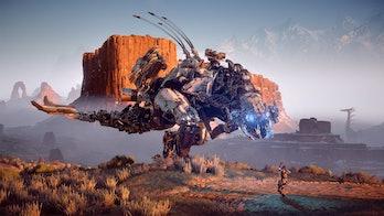horizon zero dawn robot dinosaur enemy