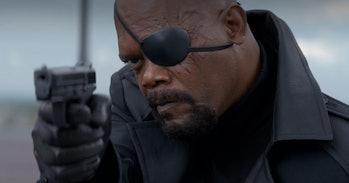 Samuel L. Jackson as Nick Fury.