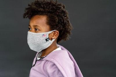 Kids Non-Medical Grade Mask Silver Lurex