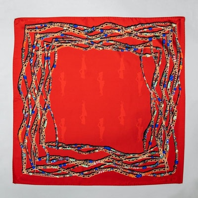 Red African Beaded Scarf
