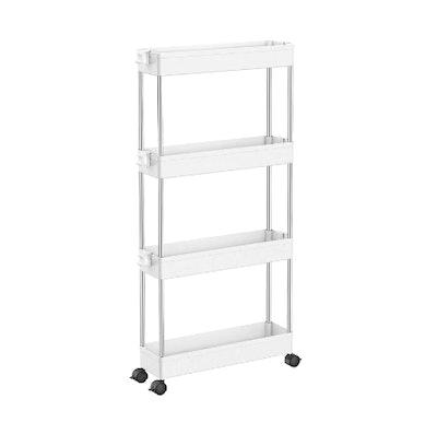 SPACEKEEPER 4 Tier Slim Storage Cart