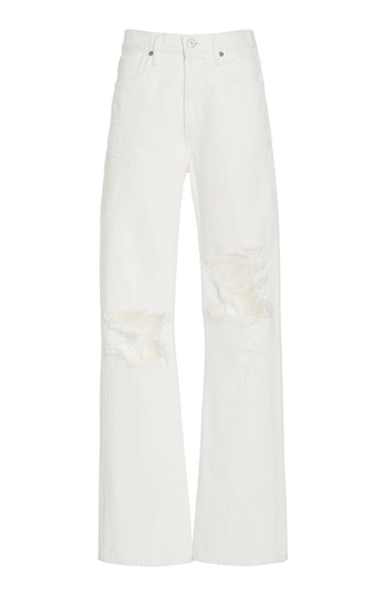 Libby Distressed Rigid Mid-Rise Straight-Leg Jeans