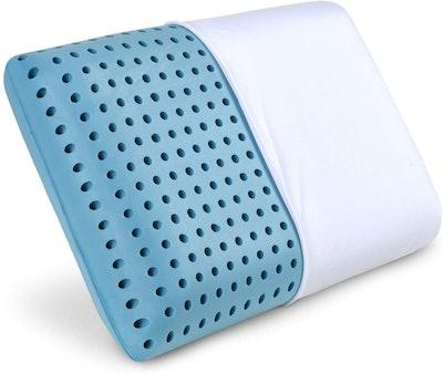 PharMeDoc Blue Cooling Memory Foam Pillow