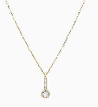 Rose Cut Diamond Drop Necklace