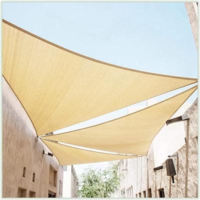 ColourTree Sun Shade Sail Triangle Canopy (14' x 14' x 14')