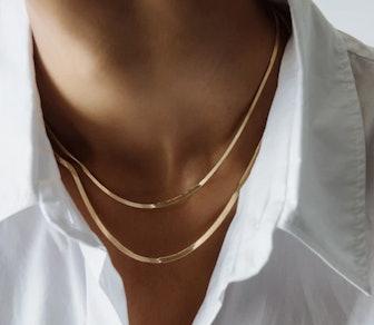 Carter Flat Herringbone Chain II
