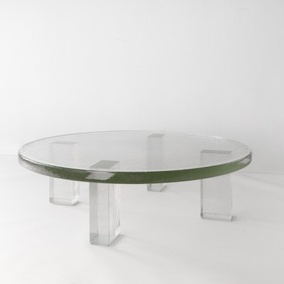 Seeded Glass Coffee Table