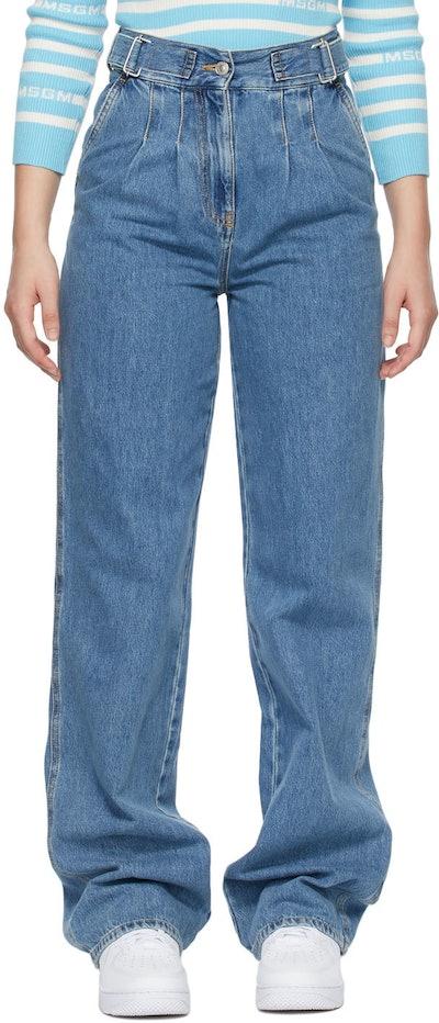 Blue Baggy Jeans