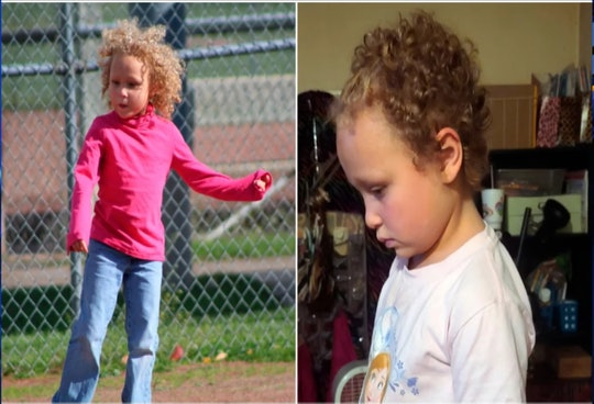 Photos of Jurnee Hoffmeyer show how the 7-year-old looked before and after receiving an allegedly unauthorized haircut by a school employee.
