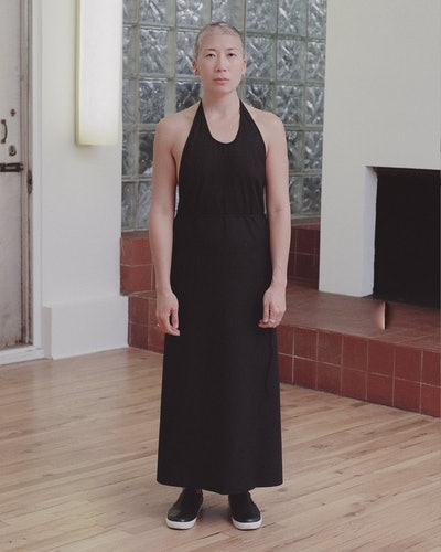 Baserange Apron Dress in Black