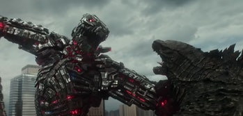 Mechagodzilla vs. Godzilla.