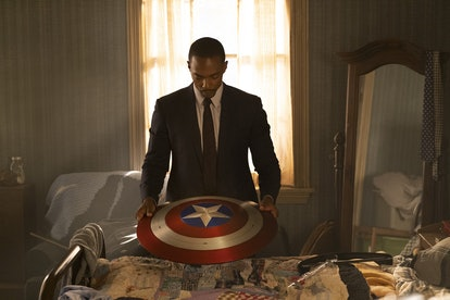 Anthony Mackie as Sam in 'Falcon and Winter Soldier' via Disney+ press site.