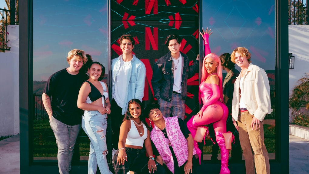 The cast of Netflix's Hype House reality series.