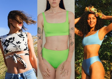 Three swimsuit models