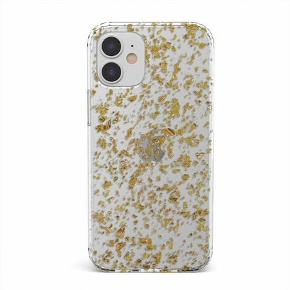 Rose Gold Flaked Glitter Clear Case