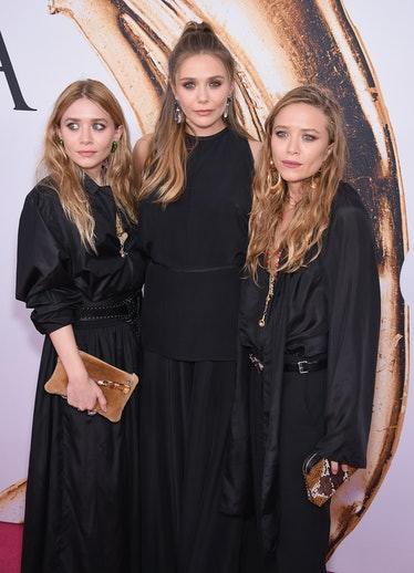 Mary-Kate, Elizabeth, and Ashley Olsen at the 2016 CFDA Fashion Awards in New York City, June 2016.