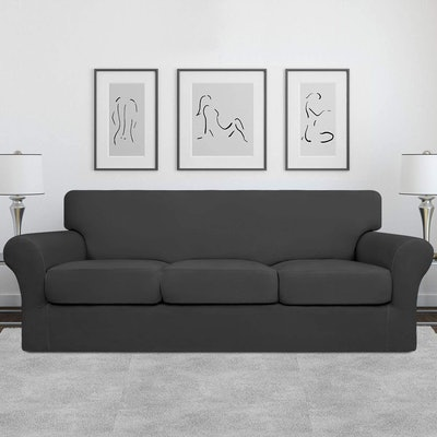 Easy-Going Stretch Soft Couch Cover (4-Pieces)