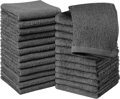 Utopia Towels Cotton Gray Washcloths