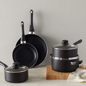 Amazon Basics Nonstick Cookware Set (8 Pieces)