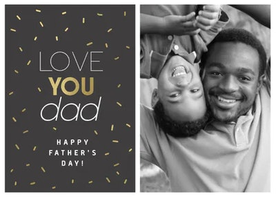 Golden Dad Father's Day Card