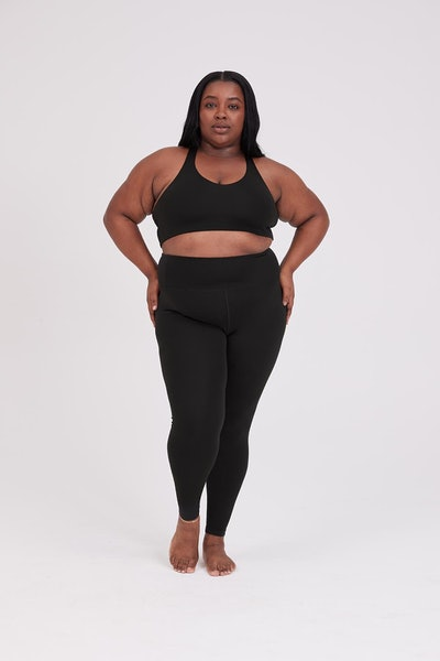 Girlfriend Collective Float High-Rise Legging in Black
