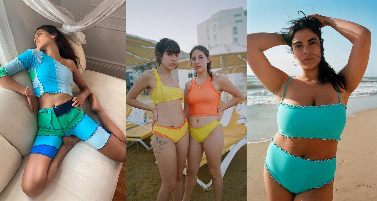 Four swimsuit models