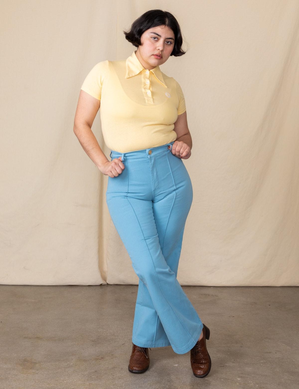 Western Pants Baby Blue